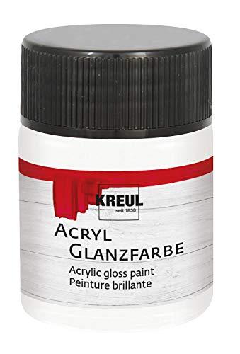 Kreul 79518 - Glänzend - glatte, speichelechte Acrylfarbe zum Anmalen und Basteln, auf Wasserbasis, schnelltrocknend und deckend, im 50 ml Glas, farblos