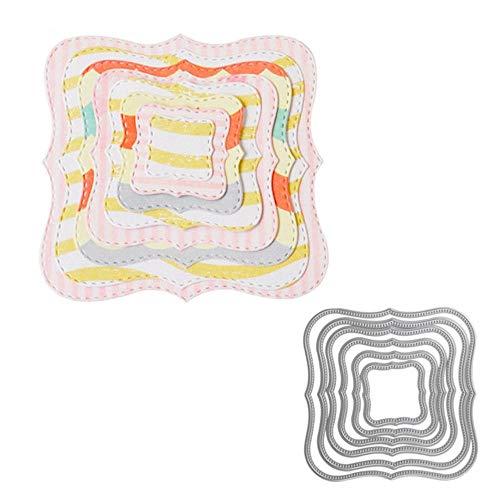 Metalen snijden Dies Cirkel Frame Stencils voor DIY Scrapbooking Embossing Papier Bruiloft Kaarten Die Cuts Fotoalbum Maken Ambacht 8