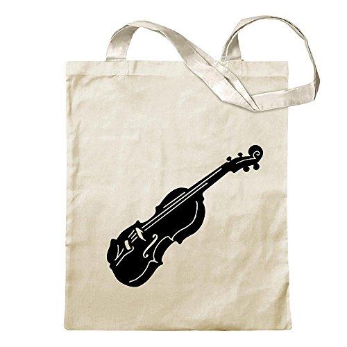 Kiwistar Geige - Violine - Musik Tragetasche Baumwolltasche Stoffbeutel Umhängetasche Langer Henkel