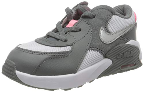 Nike Air MAX EXCEE (PS), Zapatillas para Correr Unisex niños, Smoke Grey Metallic Silver White Sunset Pulse, 33 EU