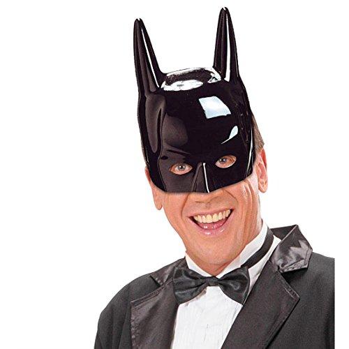 Amakando Masque Batman Super héro Chevalier Masque moitié Visage Dark Knight Film héros BD soirée à thème Carnaval Accessoire Mardi Gras