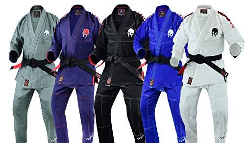 "Verus Ultra Light Version with Preshrunk Fabric ""Spartacus"" BJJ JIU Jitsu GI (Black, A4)"