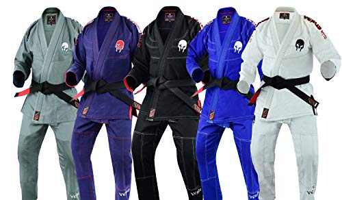 "Verus Ultra Light Version with Preshrunk Fabric ""Spartacus"" BJJ JIU Jitsu GI (Black, A3)"