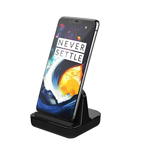 USB C Charge & Sync Desktop Dock Stand by CharmTek, Support Dash Charging for OnePlus 6T/5T/5/3T,Rapid and Fast Charging for Nexus 6P/5X, Huawei Mate 8/9 (Case Compatible,Cable and Plug not Included)