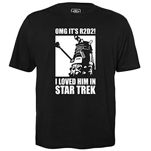 OMG It's R2D2 - Geek Shirt für Computerfreaks aus fair gehandelter Bio-Baumwolle, Größe M