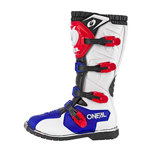 O'Neal Rider Boot MX Cross Stiefel Blau Rot Weiß Motorrad Enduro Motocross Offroad, 0329-7, Größe 42 - 2