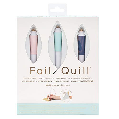 We R Memory Keepers Foil Quill Freestyle All in One Kit, Starterkit mit 3 USB-Stiften mit verschiedenen Spitzen, 3 Folienrollen und Klebeband zum Karten gestalten, Scrapbooking und Journaling