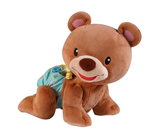 VTech Baby Krabbel-mit-mir-Bär – Interaktives Plüschtier, das alleine krabbelt, zählt, spricht und singt – Für Kinder von 9-36 Monaten