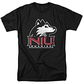 Northern Illinois University Official Distressed Primary Unisex Adult T Shirt,Black Large