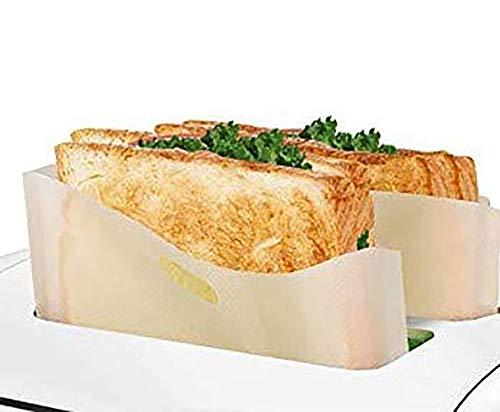 Thursday April, 12 Piezas de Bolsas Reutilizables para Tostadora TranslúcidoTostadora Toastie Sandwich Bolsas para Tostadas Bolsillos Toastabags Tostados Antiadherentes(16cm*18cm)