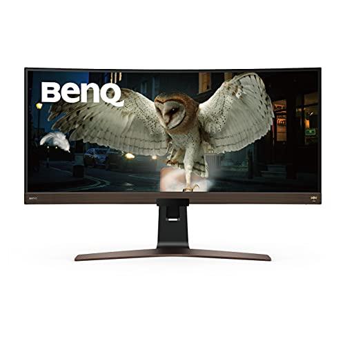 Monitor Curvo BenQ EW3880R HDR ultrawide WQHD+ IPS de 37,5', USB-C, HDMI, 21:9