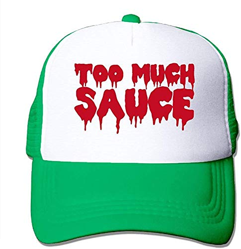 Sdltkhy Too Much Sauce Mesh Trucker Caps/Hats Adjustable for Unisex Black
