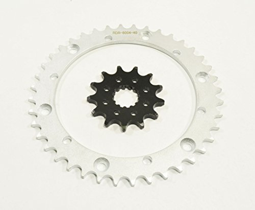 01-2003 fits Yamaha YFM660R Raptor 660 13 Tooth Front & 40 Tooth Rear Silver Sprocket