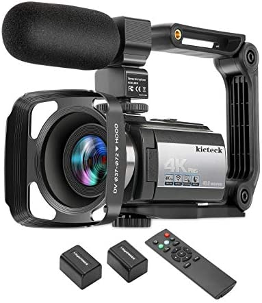 Video Camera Camcorder 4K 60FPS kicteck Ultra HD Digital WiFi Camera 48MP 3 inch Touch Screen product image