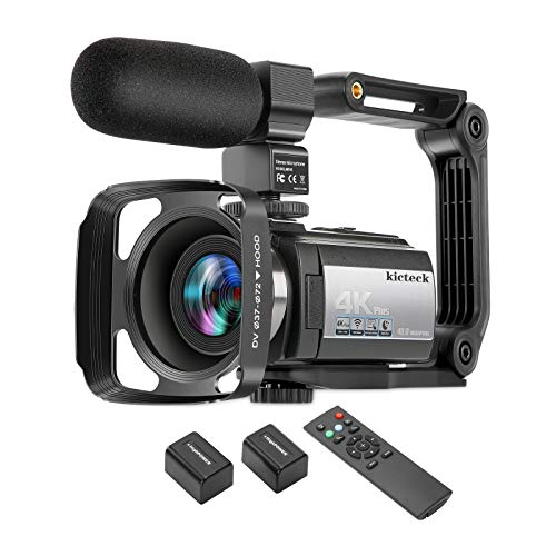 Video Camera Camcorder 4K 60FPS kicteck...