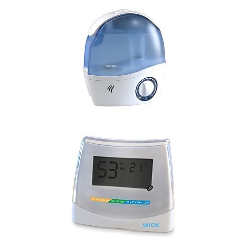 Wick WH5000E4 Ultraschall-Luftbefeuchter + Wick W70DA 2-in-1 Hygrometer and Thermometer