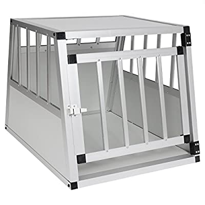 EUGAD Car Dog Cage Puppy Travel Carrier Kennel Pet Crate Transport Box Aluminum from EUGAD