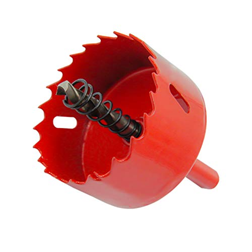 Bi-Metal Hole Saw Drill Bit HSS Hole Cutter with Arbor for Wood and Metal 2-5/32''(55mm)