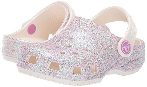 Crocs Kids' Classic Glitter Clog | Glitter Shoes for Girls | Slip On Shoes
