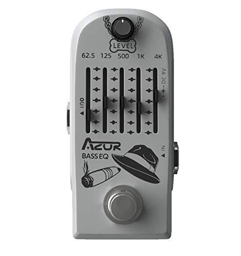 AZOR 5 Band Bass EQ Guitar Effects Pedal Guitar Distortions Effect Pedal with True Bypass Aluminium-Alloy AP-323