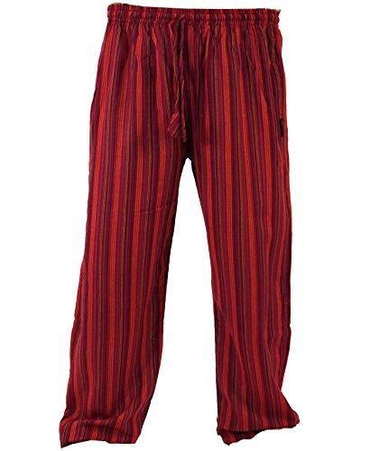Guru-Shop Yogahose, Goa Hose, Herren, Rot, Baumwolle, Size:XL (52), Hosen Alternative Bekleidung