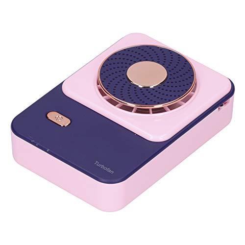 PUSOKEI Ventilador Multifuncional para Colgar en el Cuello con cinturón, Mini Enfriador de Aire portátil Recargable de 3 velocidades para Exteriores Tipo C, SHC-S03,5V / 1A(Rosa)