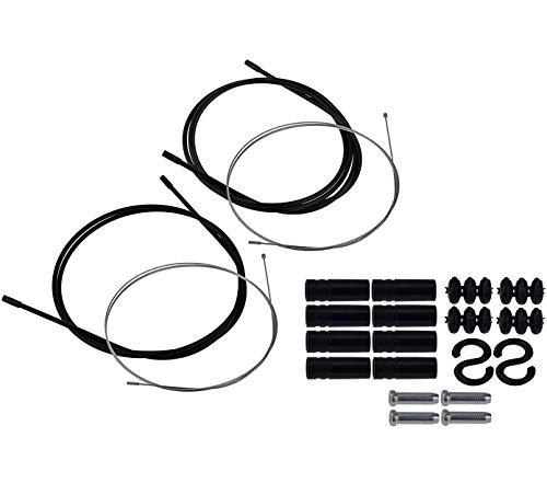 P4B | Komplettes Schaltzugset - Außenhülle = 1x 1.400 mm + 1x 1.700 mm | Universell einsetzbar Dank Doppelnippel | Aus korrosionsbeständigen Stahl