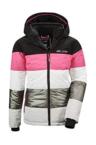 Killtec Mädchen Fiames GRLS Ski Quilted Jckt C Jacke In Daunenoptik Mit Kapuze Und Schneefang, schwarz, 152