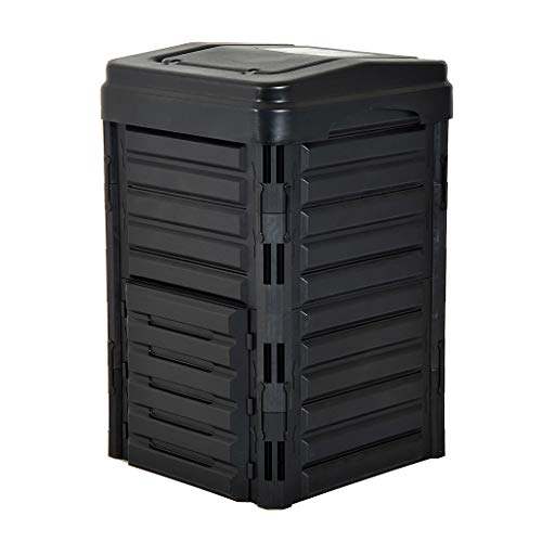Best Deals! YICOL Garden Compost Bin 330L Composter with Ventilation Holes Eco Friendly Organic Wast...