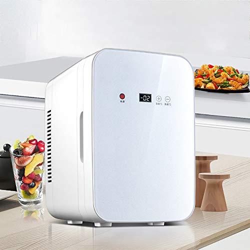 Nevera Coche, Enfriador Y Calentador Portátil Refrigerador Personal para El Cuidado La Piel Medicamentos Alimentarios Enchufes para Tomacorrientes Domésticos Y Cargador Coche 12V