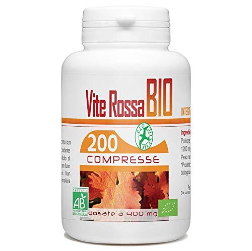 Vite Rossa Bio - Vitis Vinifera - 200 compresse - 400 mg per compresse