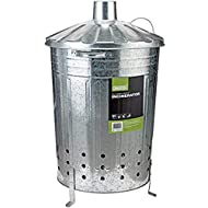 85 litre traditional garden incinerator made from galvanised steel Total height (including lid and leg) 800 mm Suitable for everyday use