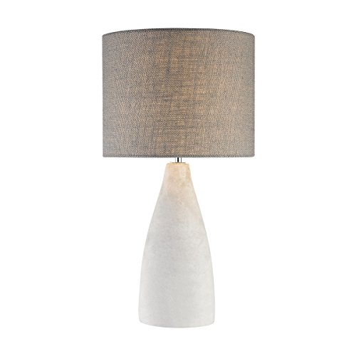 Elk Lighting D2949 Rockport Table Lamp in Polished Concrete with Burlap Shade-Tall