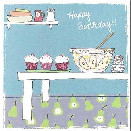 グリーティングカード 誕生日/バースデー 「お菓子づくり」 封おしゃれ メッセージカード ギフト 贈り物 手紙 封筒付き ラインストーン付き