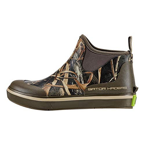 Gator Waders Womens Camp Boots, Realtree Max 5, Size 8 - Ankle High Waterproof Shoes for Rain and Mud, Fishing, Hunting, and Camp Wear