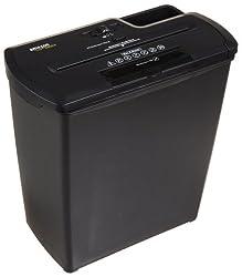 AmazonBasics Aktenvernichter, 7-8 Blatt, Streifenschnitt, CD-Schredder