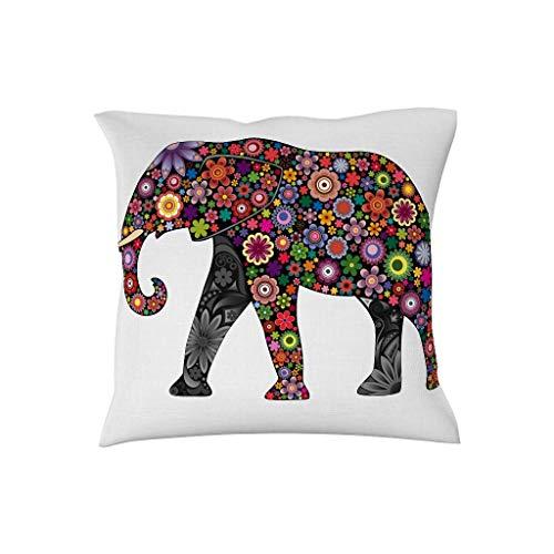 July Kussensloop mandala bloemen olifant dier decoratie huiskussen voor slaapkamer