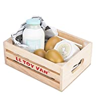 Le Toy Van Honeybake Collection Eggs & Dairy Crate Premium Wooden Toys for Kids Ages 3 Years & Up