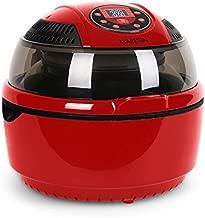 Klarstein VitAir Fryer - Friteuse à air chaud, Grillade, Halogène infrarouge, 1400W, Sans préchauffage, Nettoyage facile, Accessoires nombreux, 50-230°C, Rouge