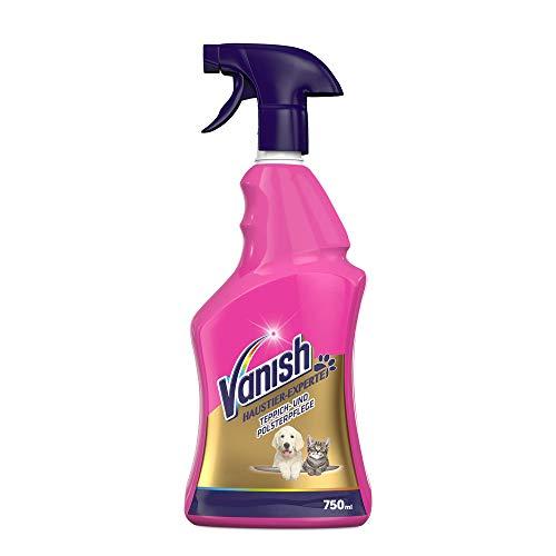 Vanish Haustier-Experte Teppichreiniger – Reinigungsspray zur Teppich- & Polsterpflege – Gegen Schmutz & Geruch nach Urin – Punktuelle Fleckentfernung – 1 x 750 ml