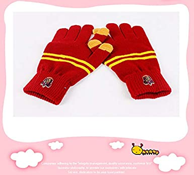 Harry Scarf Hat and Gloves Children Unisex Gryffindor Hogwarts Fan Articles Outfit Set Mardi Gras Carnival Boys Girls Halloween Christmas Party Gift