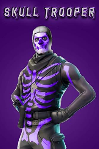 Fortnite : skull trooper purple notebook: skull trooper purple og skin lined notebook