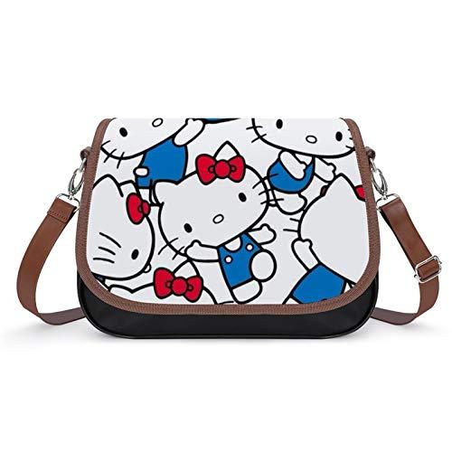 Bolso de piel sintética para mujer, diseño de Hello Kitty, picture Crossbody Shoulder