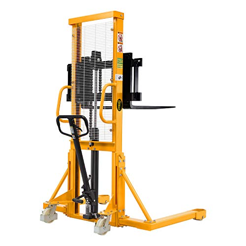 Apollolift Manual Pallet Stacker with Straddle Legs 2200lbs Capacity 63