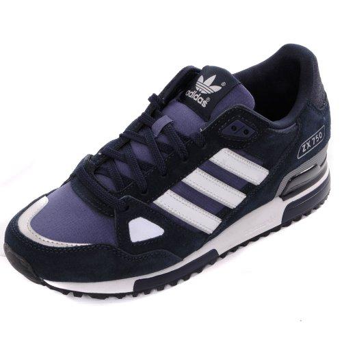 Adidas Originals ZX 750Turnschuhe,marineblau/weiß, Blau - blau - Größe: 44 EU