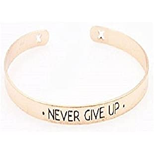 Purposefull Encouragement Bracelets - Powerful Messages of Encouragement - Great Gifts - Adjustable Size (Never Give Up)