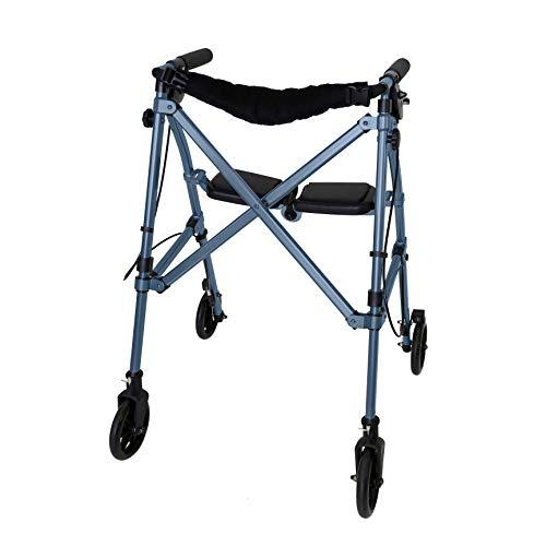 Able Life Space Saver Rollator, Leichtgewicht Gehhilfe mit Sitz und Bremse, Faltbar Verstellbare Gehrahmen für Senioren, Kobaltblau