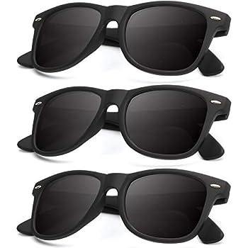 Polarized Sunglasses for Men and Women Matte Finish Sun glasses Color Mirror Lens 100% UV Blocking  3 Pack