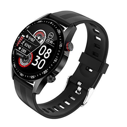 LXZ E1-2 Deportes Fitness Smart Watch Monitor De Ritmo Cardíaco Mensaje RECORDATORIO Bluetooth Llamada Pantalla Táctil Completa Impermeable Hombre Smartwatch para Android Iose12,G