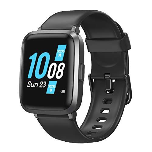 TOMSHOO Smartwatch Monitor de Frecuencia Cardíaca Presión Arterial Oxígeno Podómetro IP68 Reloj de Fitness con Pantalla Táctil de 1.3 ', 9 Modos Deportivos Hombres Mujeres para iOS Android